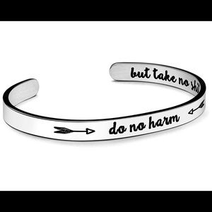 """""""Do No Harm But Take No Shit"""" Bracelet, Secret"""